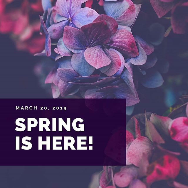 The first day of Spring has never felt so good!